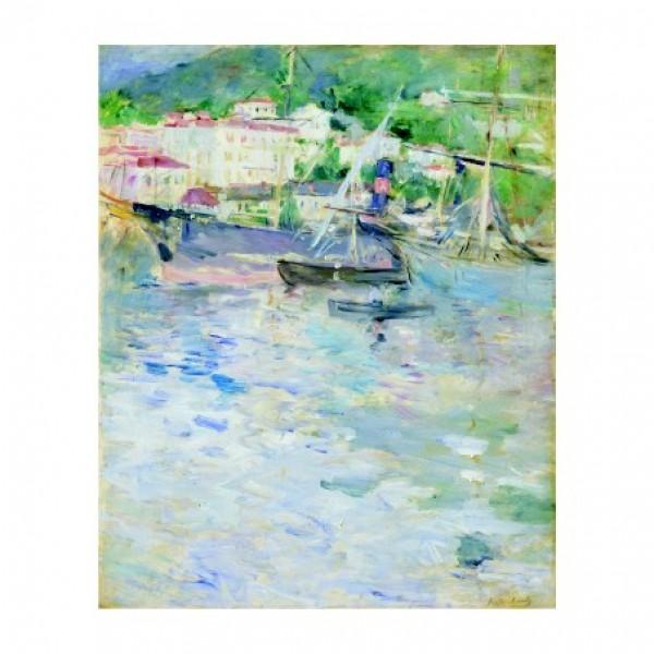105.берта моризо Пристанище в Ница. 43х53, 1882.