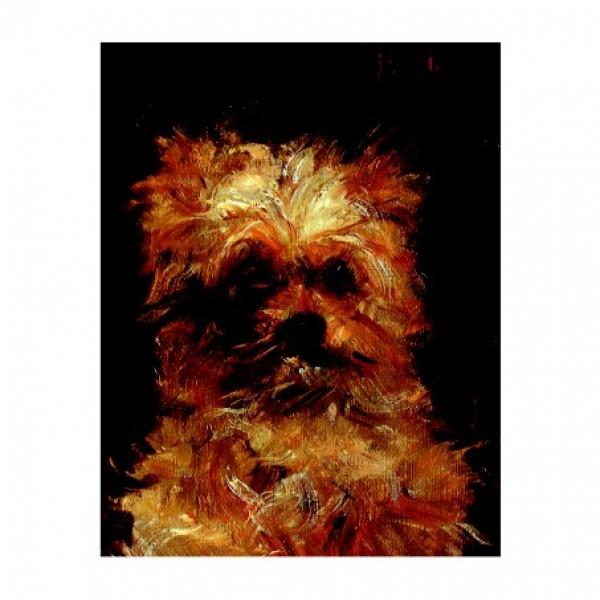 166.едуард мане, глава на куче, 21х27. 1876