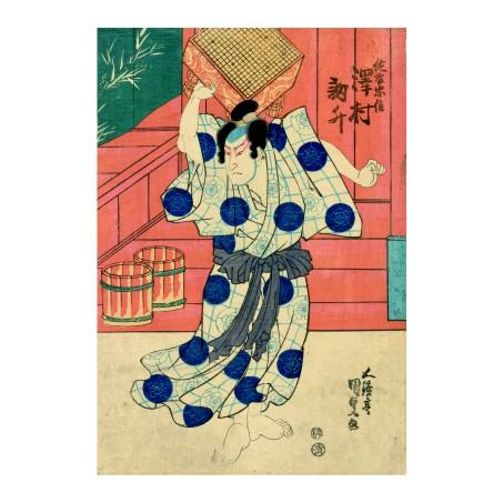 Утагава Кунисада. Принт на картон #198