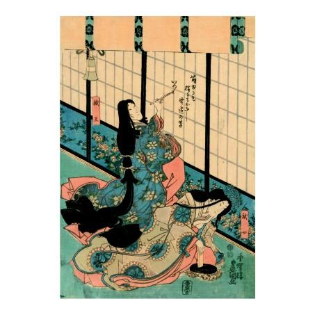 Утагава Кунисада. Принт на картон #199