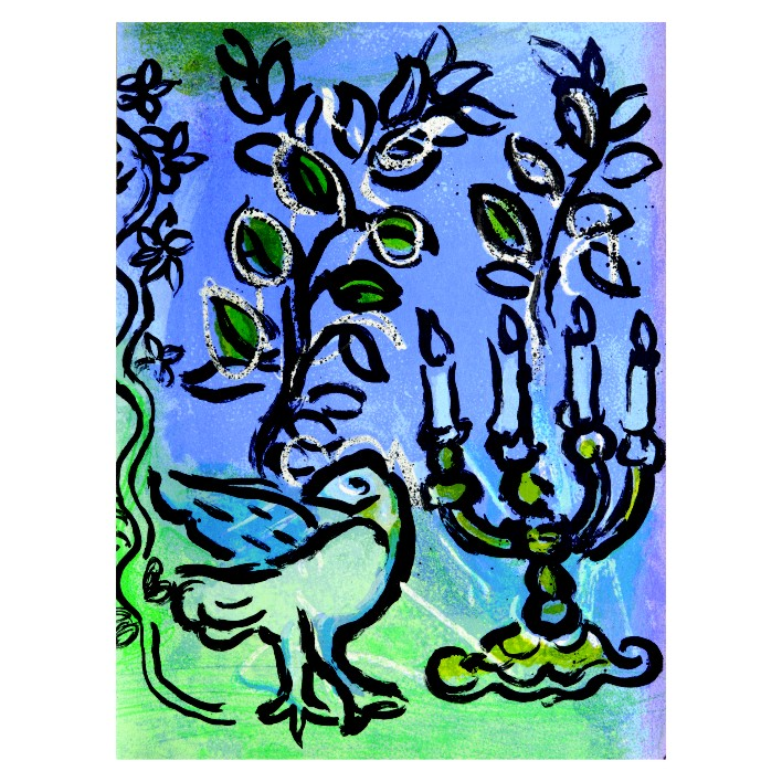 Марк Шагал. Принт на картон #210