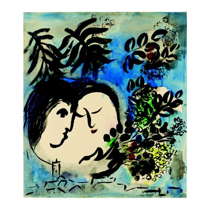 Марк Шагал. Принт на картон #220