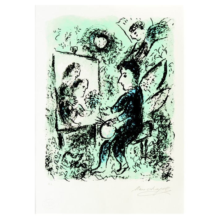 Марк Шагал. Принт на картон #226