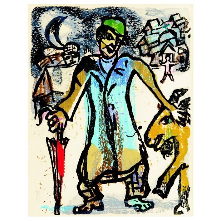 Марк Шагал. Принт на картон #227