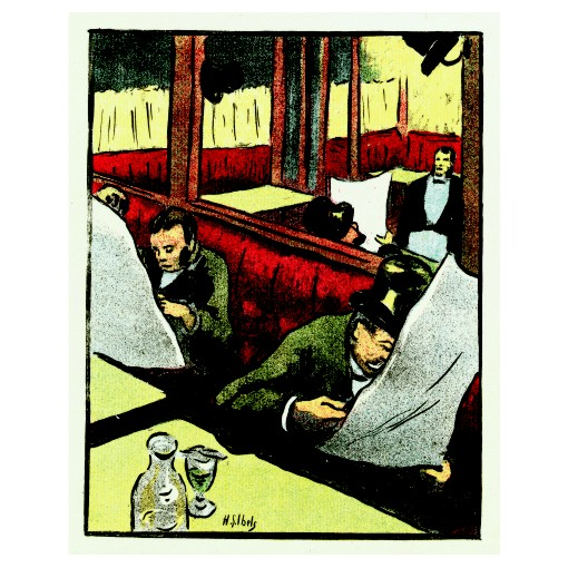 Анри Габриел Ибелс. Принт на картон #90