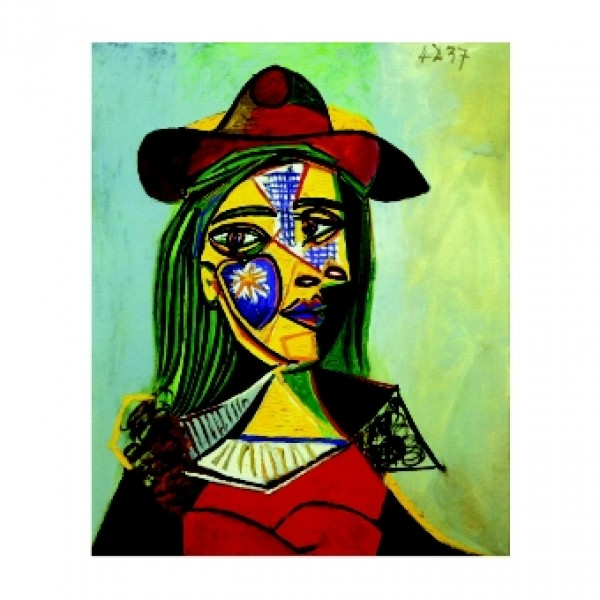 257. 44х54. 1937 Жена с шапка и кожа яка