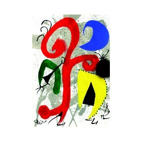 Хуан Миро. Принт на картон #302