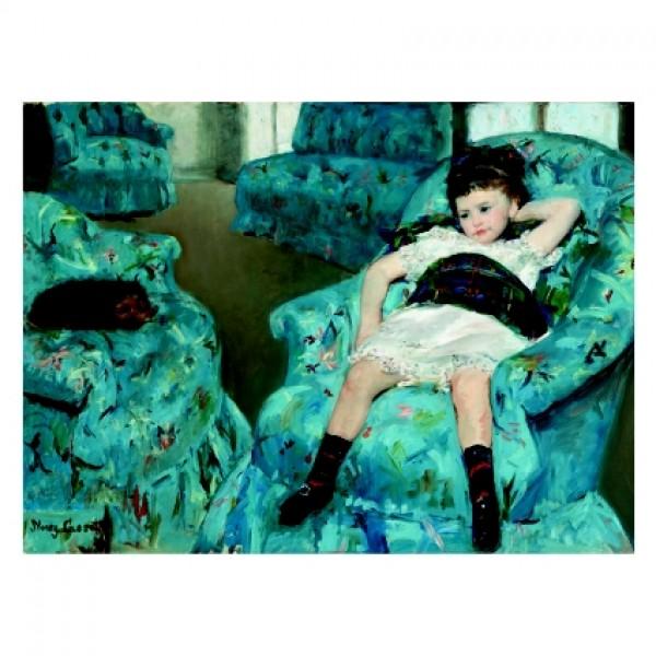 346 Малко момиче в синьо кресло 1878