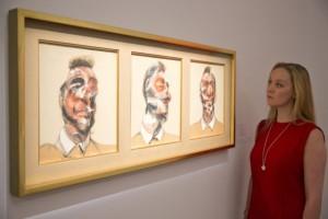 Френсис Бейкън, Три скици към портрета на Люсиен Фройд, триптих,1969, $142.4 мил .Картини цени.