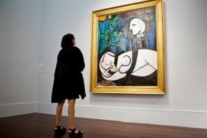 Пабло Пикасо, Гол модел, зелени листа и бюст, $106.5 мил. Картини цени.