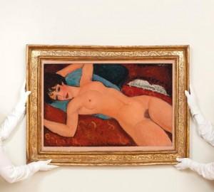 Амедео Модилиани, Легнала гола жена, 1917—1918, $170.4 мил. Картини цени.
