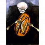 Принт на картон 180 гр. мат. Хайм Сутин, Натюрморт с херинга, 1916 г.